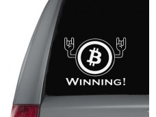Crypto Winner Hands sticker