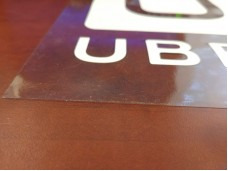 Removable UBER decal / static Cling sticker